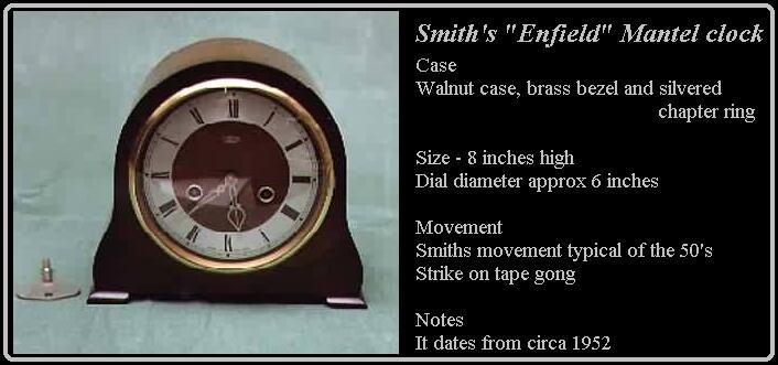 smiths clock dial